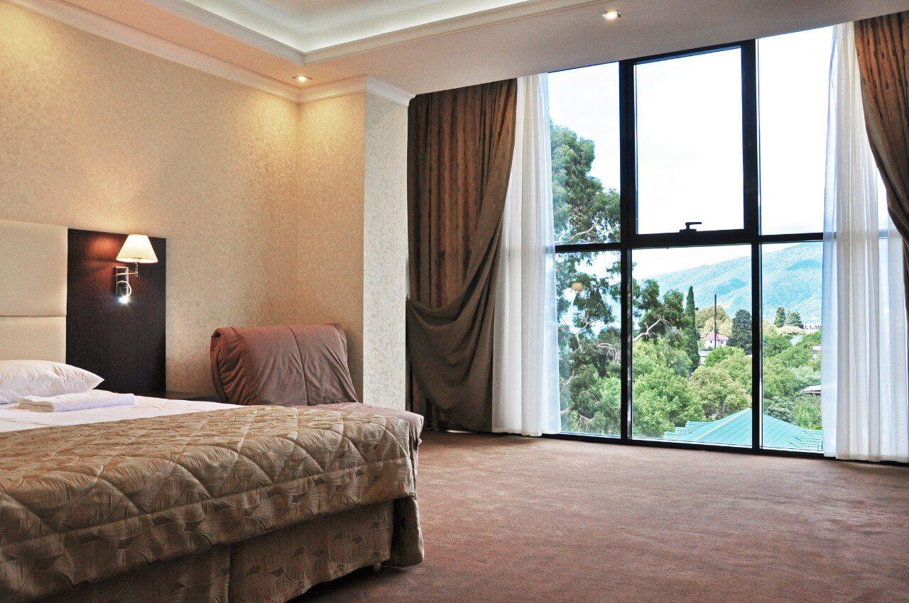 2-х местный 1-но комнатный студия без балкона - Гранд отель Гагра - отель европейского уровня в Абхазии (Grand Hotel Gagra)