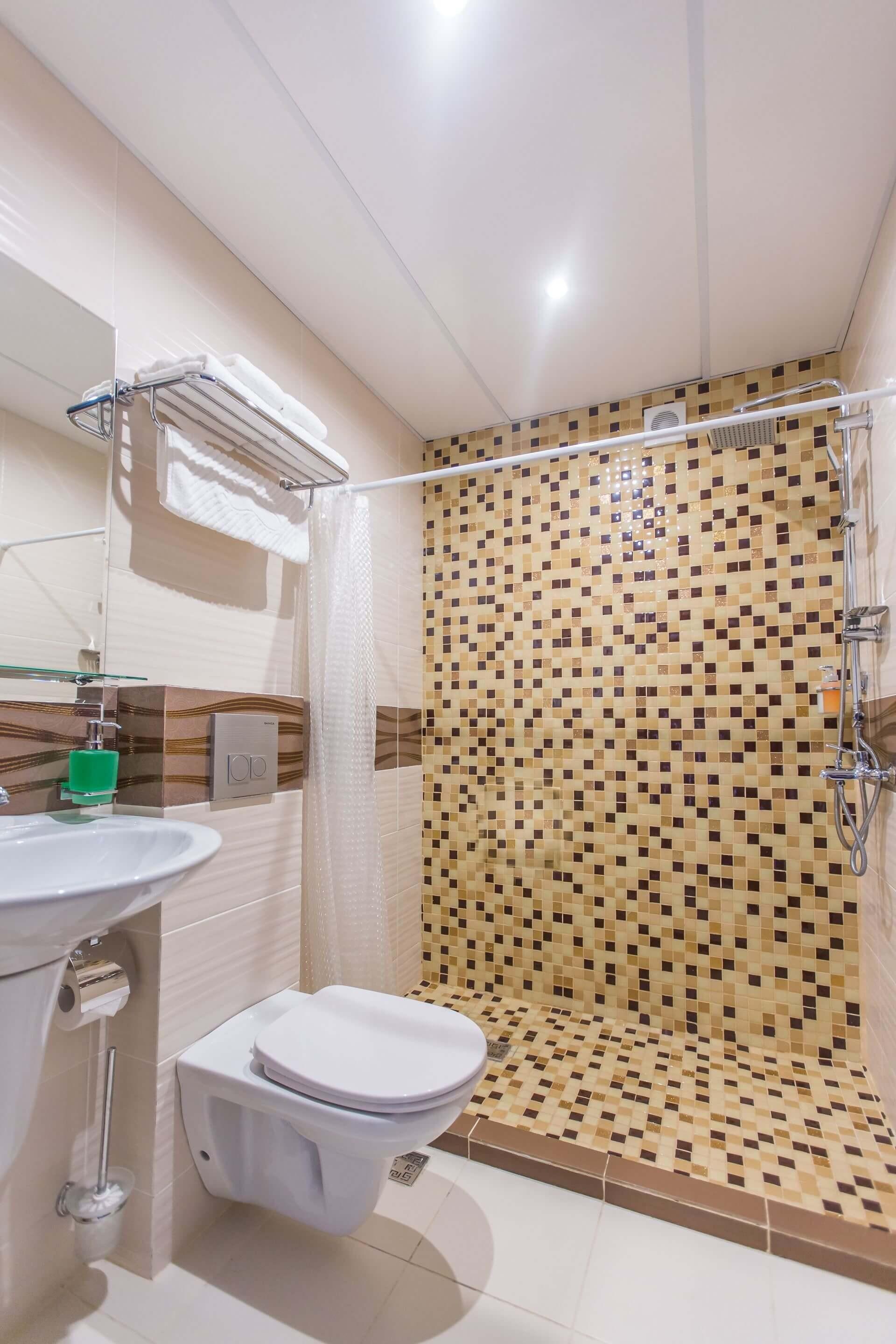 Санузел 2-х местный 1-но комнатный стандарт с балконом и Люкс - Гранд отель Гагра - отель европейского уровня в Абхазии (Grand Hotel Gagra)